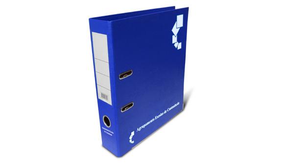 acheter classeur personnalise pvc large bleu
