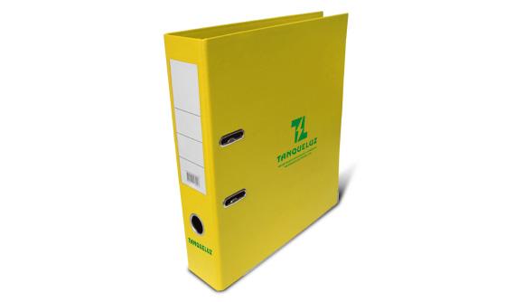 acheter classeur personnalise pvc large jaune